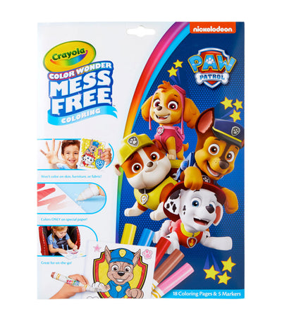 crayola color wonder mess free paw patrol coloring pages & markers