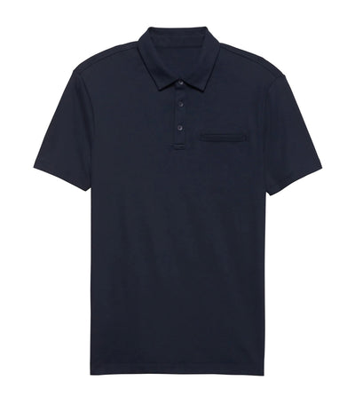 Luxury Touch Performance Golf Polo Preppy Navy