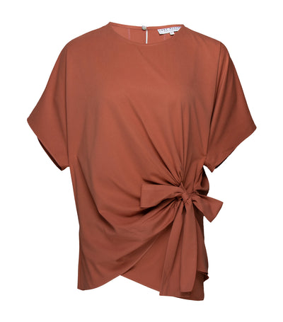 lady rustan jada short sleeve blouse brown