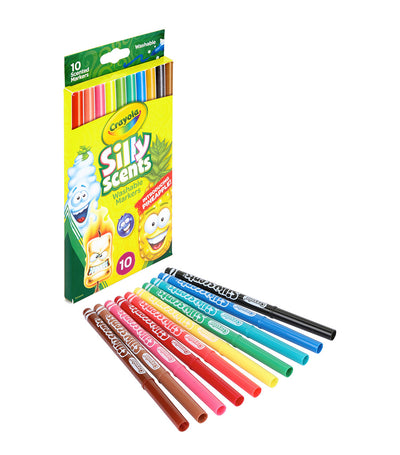 crayola silly scents fine line markers, sweet scents - 10 count