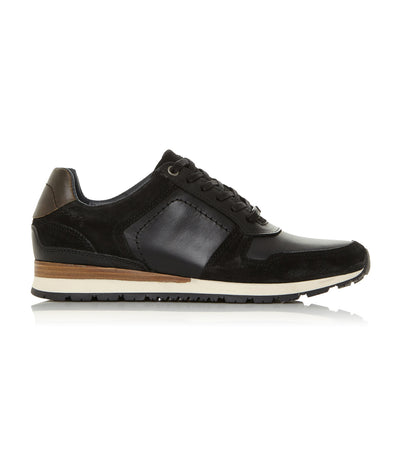 Tenor Lace-Up Trainer Black