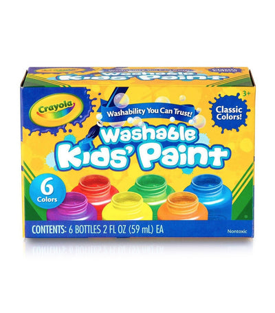 crayola washable kids' paint - 6 count
