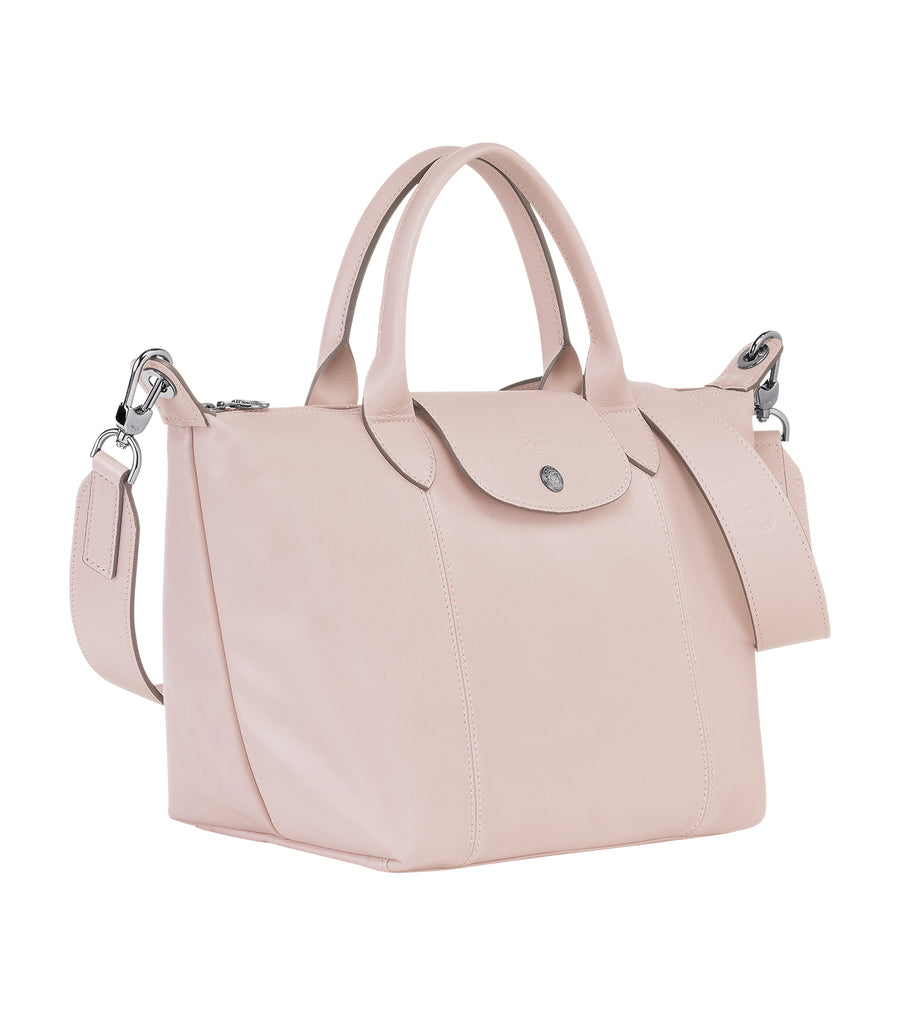 Le Pliage Cuir Top Handle Bag S Pink