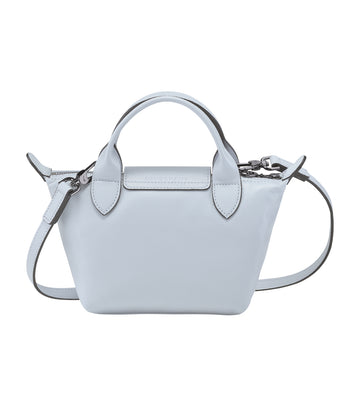 Le Pliage Cuir Top-Handle Bag Mini Sky Blue