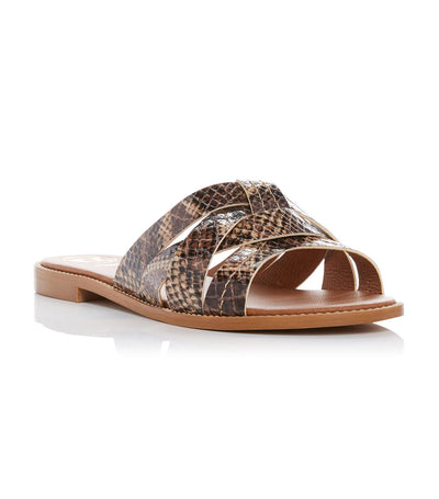 Luxuries Woven Slides Camel