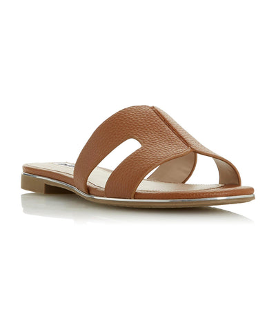 Looper Caged Vamp Slider Sandal Tan