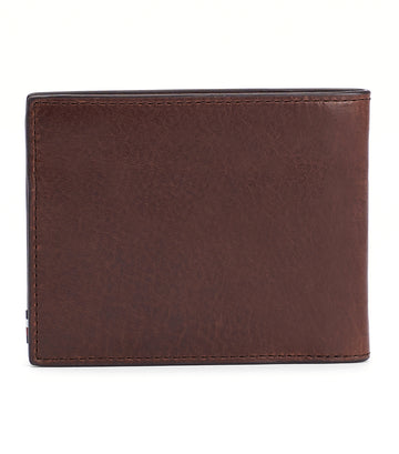 Polished Leather Mini Wallet Chestnut