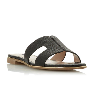 Looper Caged Vamp Slider Sandals Black