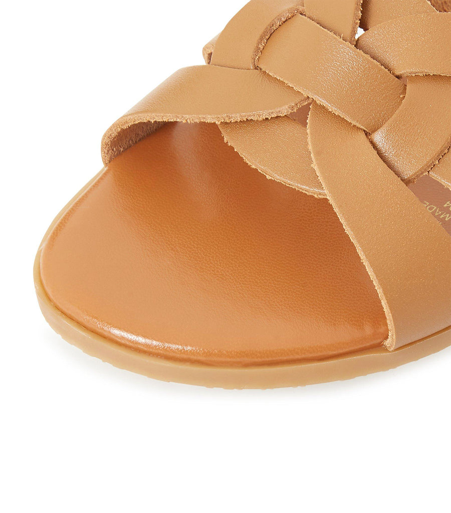 Lemonie Di Knot Detail Sandals Tan