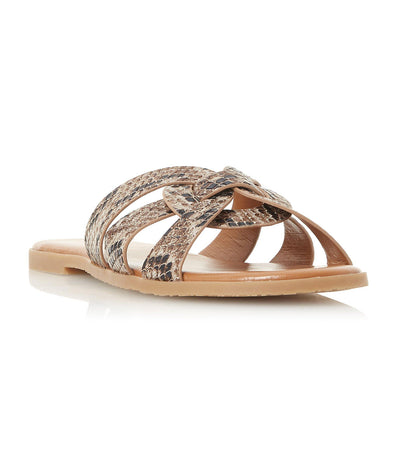 Lemonie DI Knot Detail Sandals Natural