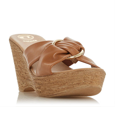 Klue Ring Wedge Sandal Tan