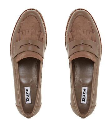 Gracella Flatform Slip-On Loafer Taupe