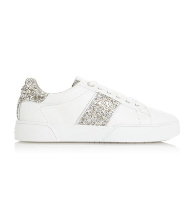 Elsie S Side Stripe Trainer Silver