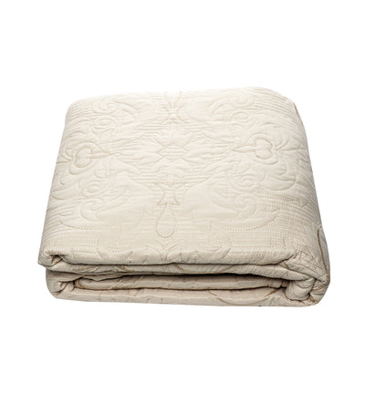 home & main fine linens bleached sand embroidered quilt set