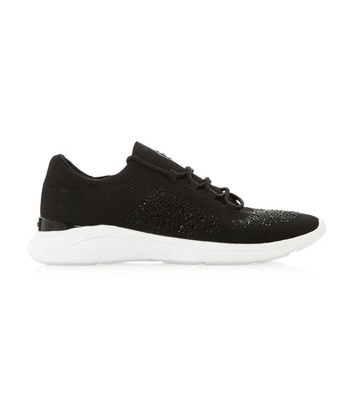 Easy Lace-Up Slip-On Trainer Black