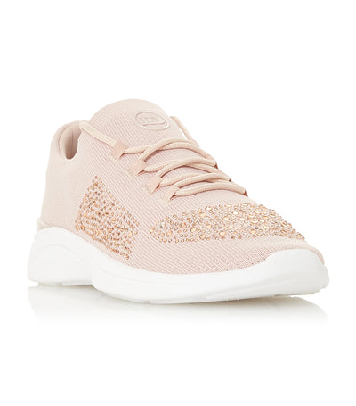 E Elsa Slip-On Lace Detail Trainer Pink