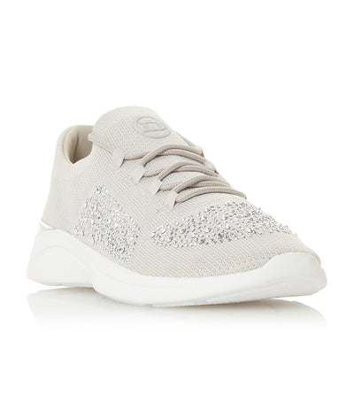 E Elsa Slip On Lace Detail Trainer Gray