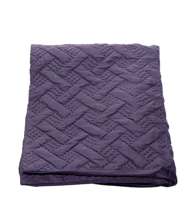 home & main 3D embossed comforter mini set purple king