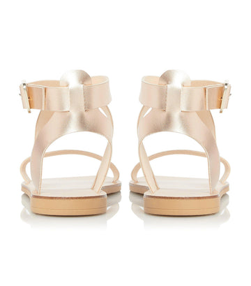 Lottiie Multi-Strap Flat Sandal Rose Gold