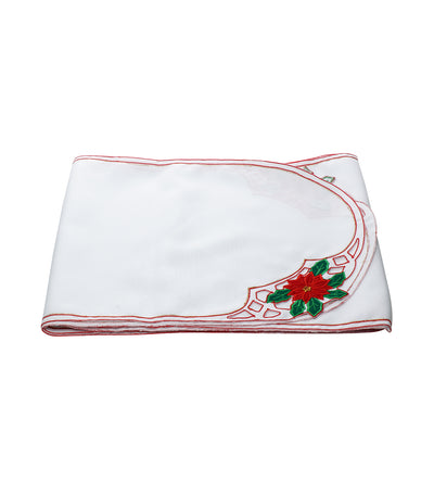 rustans home white christmas table runner
