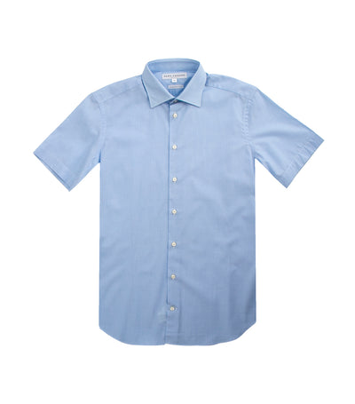 Oleg Cassini Man Deric Short-Sleeved Dress Shirt Light Blue