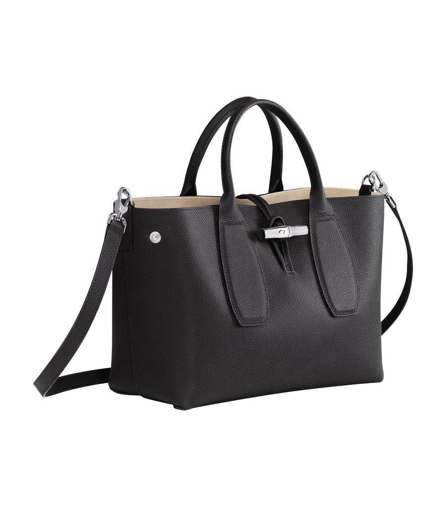 Roseau Top Handle Bag M Black