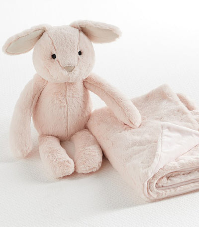 pottery barn kids plush bunny stuffed animal and blanket set