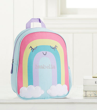 pottery barn kids rainbow little critters backpack