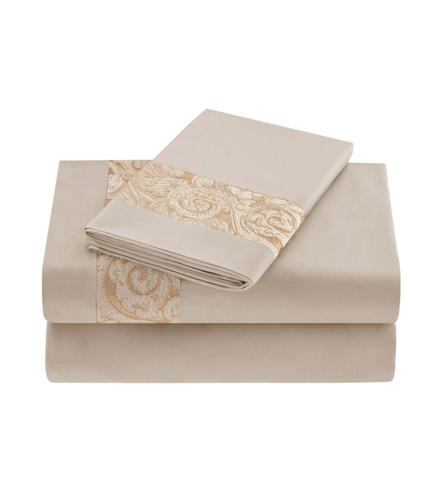 Natori Gobi Palace Sheet in Ivory