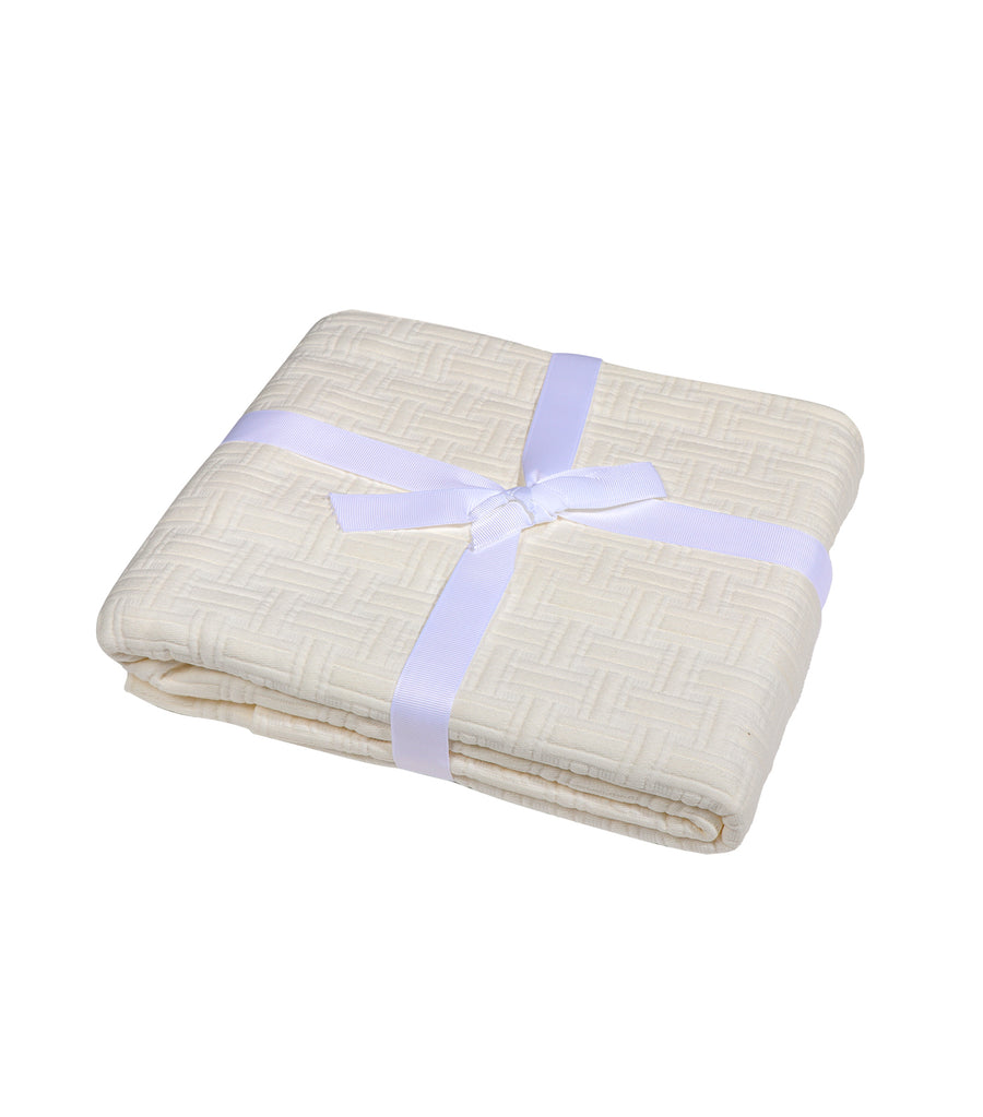 Kassatex Positano Collection King Pillow Sham Case - Ivory