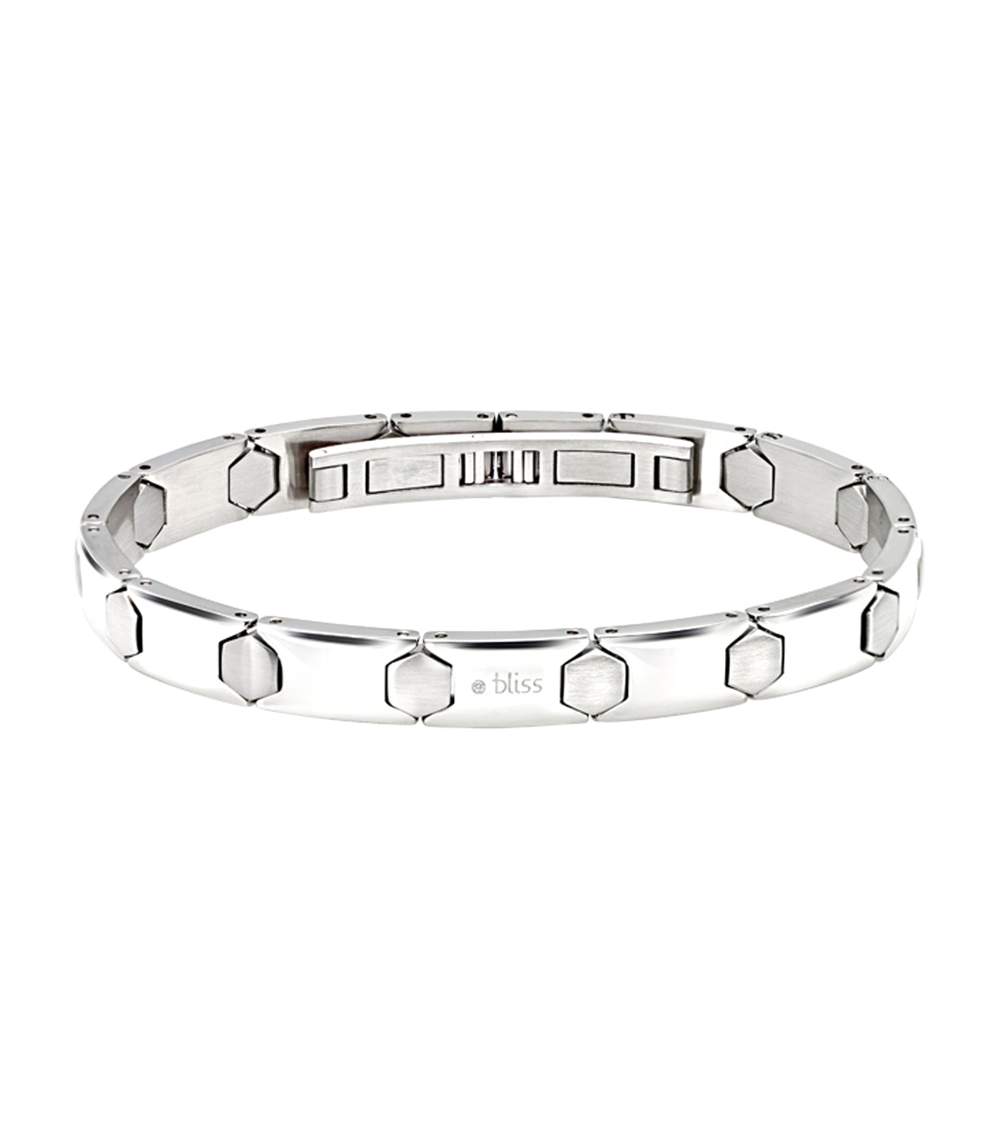 Meccano Stainless Steel Bracelet with Diamonds