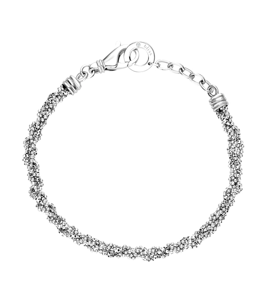 Tangle Silver Small Bracelet with Diamonds