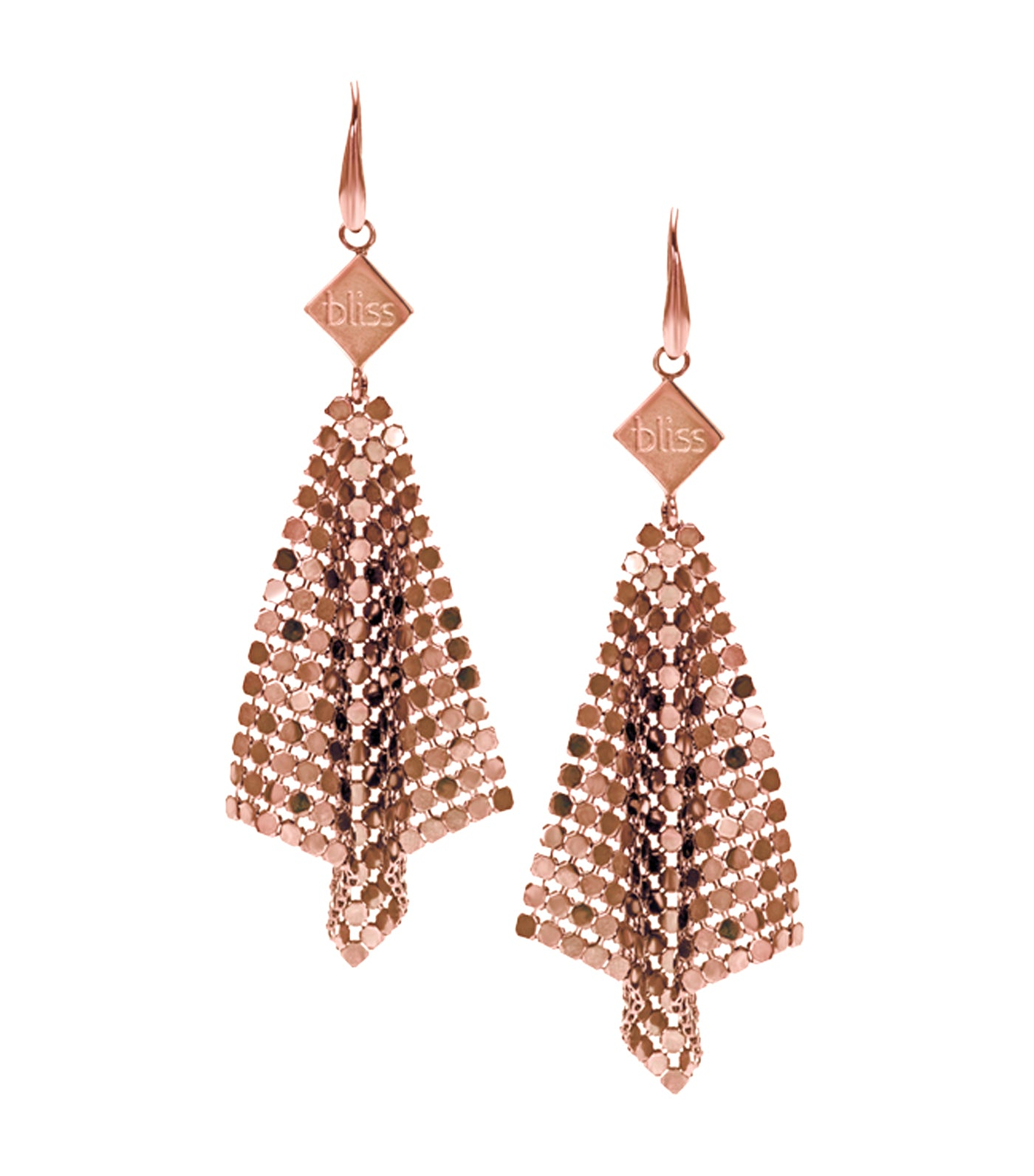 Frozen Brass Earrings in Pink Color