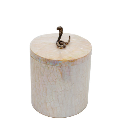 Rustan's Filipiniana Our Very Own Snake Kabibe Shell Round Box