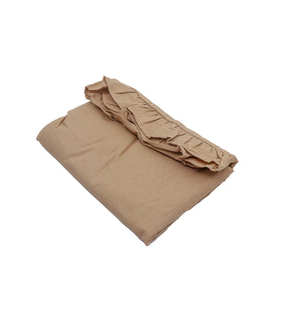Rustan's Home Euro Linen with Ruffle Pillow Sham in Light Brown