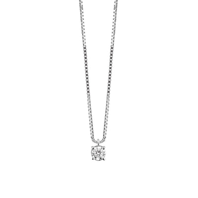 Luce White Gold Diamond Necklace