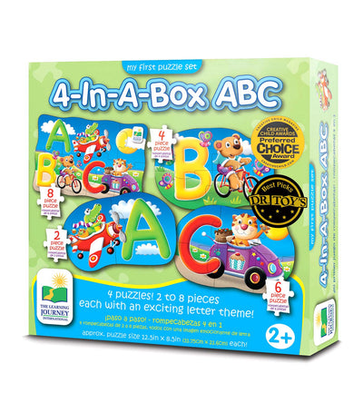 the learning journey my first puzzle set - 4-in-a-box abc