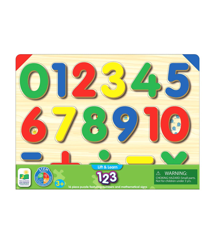 the learning journey lift & learn - 123 number puzzle