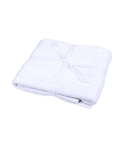 Kassatex Diamante Pillow Sham Case - White