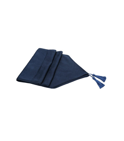 Rustan's Home Tassled Table Runner in Navy Blue