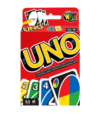 mattel games uno game card