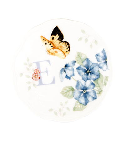 Lenox Butterfly Meadow Small Dish Initial E
