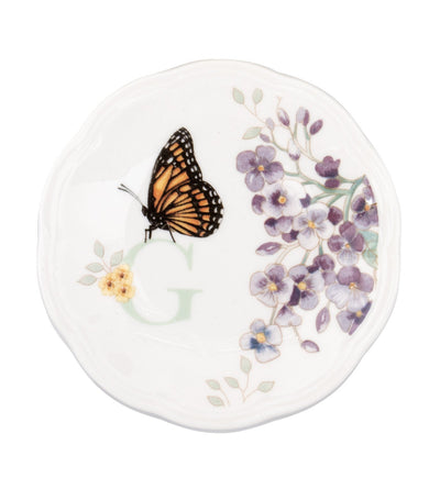 Lenox Butterfly Meadow Small Dish Initial G