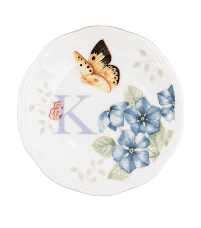 Lenox Butterfly Meadow Small Dish Initial K