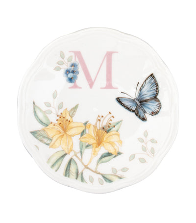 Lenox Butterfly Meadow Small Dish Initial M