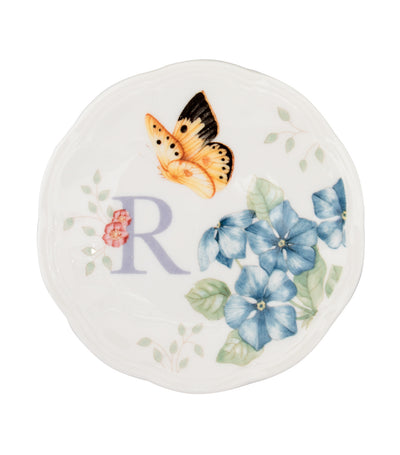 Lenox Butterfly Meadow Small Dish Initial R