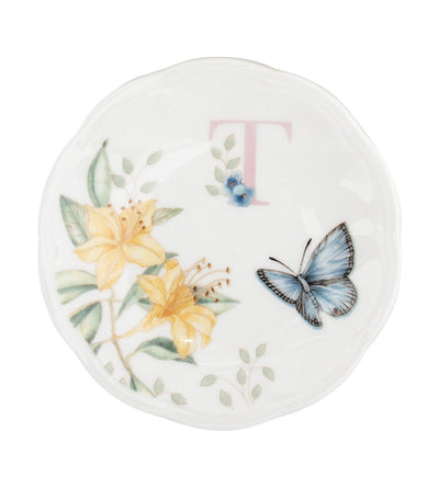 Lenox Butterfly Meadow Small Dish Initial T
