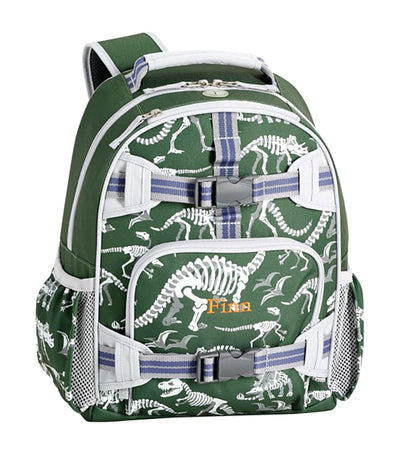 pottery barn kids mackenzie green glow-in-the-dark dinos backpacks small