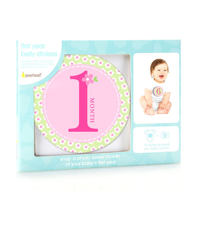 pearhead pink baby milestone stickers