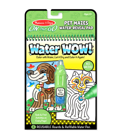 melissa & doug water wow! pet mazes - on the go travel activity